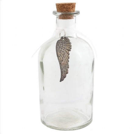 50% off Glass Apothecary Style Bottle With Angel Wing